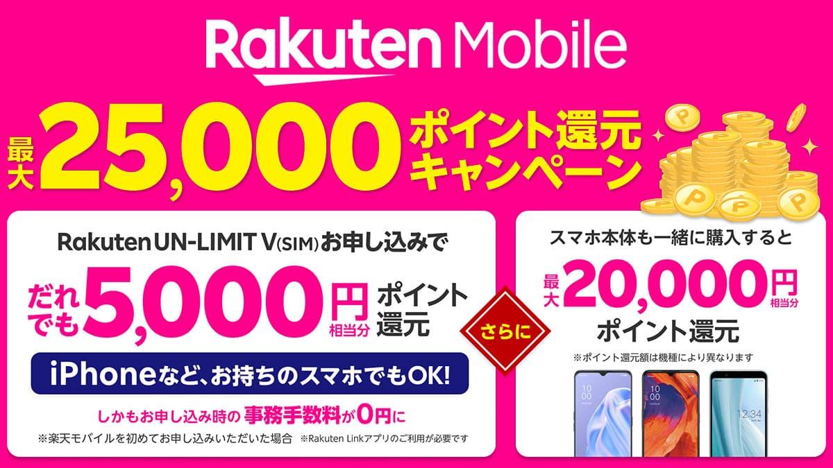 ポイント還元 いつ 楽天un-limit 【2021年3月最新】楽天モバイルのキャンペーンを解説┃最大64,336円相当が還元!