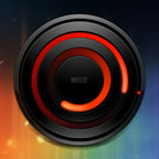 MIUI Spiral RED Analog Clock